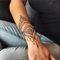 he pest pin for you, Chi Katie. Forearm Mandala Tattoo, Henna Tattoo Designs Arm, Mandala Tattoos For Women, Wrist Tattoos For Women, Wrist Bracelet Tattoo, Cuff Tattoo, Lace Tattoo, Wrist Tattoo Cover Up, Cover Up Tattoos