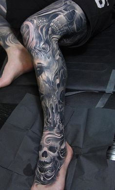 Calf tattoo-34