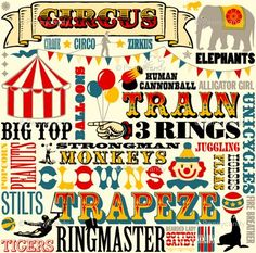 Circus word art