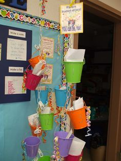 Bucket Filler Display ~ using chains from the roof