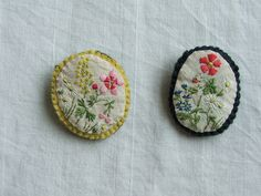 Embroidered Brooches @Melissa Wastney
