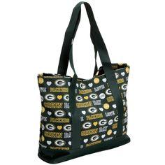 Green Bay Packers Women's Love Print Tote Bag