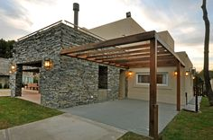 Pergola Attached To House Pergola Attached To House, Pergola With Roof, Covered Pergola, Patio Roof, Curved Pergola, Pergola Swing, Pergola Patio, Pergola Plans, Pergola Kits