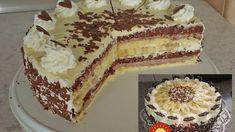 Torta Banana Split: Spravila som ju na víkendovú oslavu a všetci sa za ňou išli zblázniť – najlepšia, akú som jedla! Banana Split, Torte Au Chocolat, Chocolate Torte, Ice Cream Candy, Cake Cookies, No Bake Cake, Tiramisu, Cheesecake, Deserts