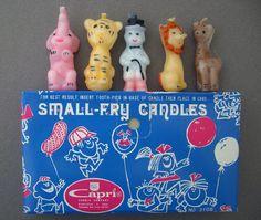 vintage circus birthday candles $5.00