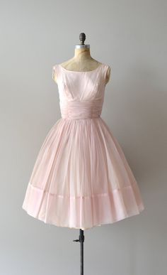 vintage 50s dress / chiffon 1950s dress / Candy Cloud dress