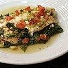 Looking for healthy dinner ideas that taste great? These simple, flavor-packed tilapia recipes will inspire you to cook the flaky fish every day. Egg Recipes For Breakfast, Delicious Breakfast Recipes, Brunch Recipes, Breakfast Ideas, Breakfast Cooking, Brunch Food, Breakfast Buffet, Yummy Snacks, Fresh Spinach Recipes