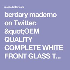 "berdary maderno on Twitter: ""OEM QUALITY COMPLETE WHITE FRONT GLASS TOUCH SCREEN & LCD FOR IPOD TOUCH 4TH GEN https://t.co/eBZK9l9eZr https://t.co/MQpt5d9WD2"""