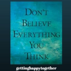 Because if your thoughts are negative they are not actually true ... meaning your higher self is letting you know that you are not focused on who you really are.  Go to the link @gettinghappytogether to learn more ...