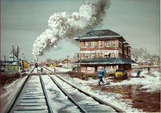 Aaron Bohrod Rail Crossroad at Clinton, Illinois 1940 г.