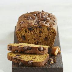 Pumpkin bread with carmel