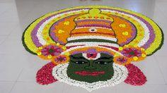 Rangoli Designs Flower, Flower Rangoli, Flower Designs, Onam Pookalam Design, Diwali Rangoli, Star Flower, Color Shades, Mandala Art, Flower Decorations