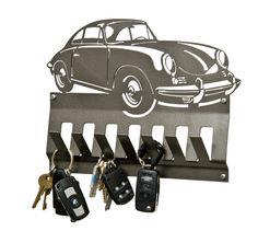 Porsche metal car key rack. Make your own metal designs with a PlasmaCAM cutting machine.