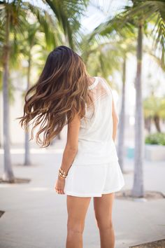 #hairstyle #hairdo #hair #ombre #brunette #long_hair #curls
