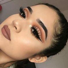 Improve makeup with these gorgeous makeup for teens Pic# 4590 - My most beautiful makeup list Edgy Makeup, Makeup Eye Looks, Eye Makeup Art, Eyeshadow Makeup, Hair Makeup, Soft Eye Makeup, Cut Crease Eyeshadow, Bridal Eye Makeup, Makeup List