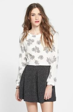Lush Button Back Woven Top (Juniors)   Nordstrom