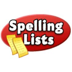 Spelling lists for all grades for Journey's Reading book