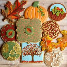 Beautiful set of autumn cookies idea