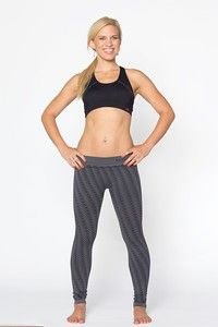 21bb793a7b512 Electric Yoga- Grey Seamless Bolt Jacquard Leggings Lighting bolt leggings  for those moments when you