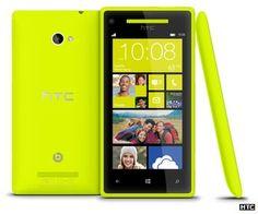 The HTC X8 aka Accord with Windows Phone 8, yellow
