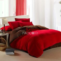 US $ 116.99 only with one product of Duvet Covers on sale, buy Simple Style Coral Fleece Queen Size 4-piece Duvet Cover Set(Dark Red) right now on Paccony.com.