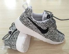 Custom Nike Roshe run Yeezy Oreo/black/white by Soleattitudes