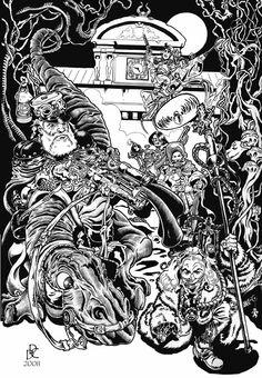 """DANIELE DE CRESCENZO  Illustrazione per """"Sarno a Fumetti 2008"""""""