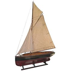 Enormous Model Boat  | From a unique collection of antique and modern models and miniatures at https://www.1stdibs.com/furniture/more-furniture-collectibles/models-miniatures/