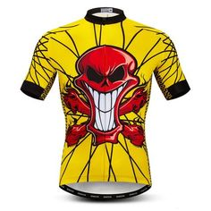 Red Skull Short Sleeves Cycling Jersey 1e6565175