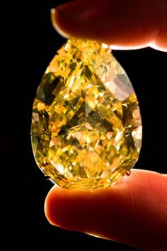 Sun-Drop Diamond ($10.9 million)    Setting a record for a yellow diamond at auction, the Sun-Drop Diamond of South Africa sold at Sotheby's Geneva this week for more than $10.9 million. The pear-shaped gem weighs 110.3 carats and was discovered only last year, meaning it has no previous owners, which added to its value. And it also comes with a bonus—the new owner gets to name the stone.