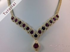 The Duchess Necklace Tutorial by BeadWovenDreams on Etsy