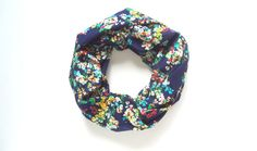 Printed Scarf Floral Scarf Fall Infinity by FashionelleStudio