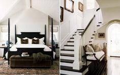Black bed/staircase/bench