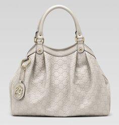 10544a1fc07 Gucci Sukey Tote Handbag Guccisima Leather Off White Purse Handbag   1