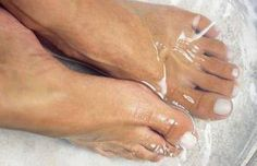 Listerine: the BEST way to get your feet ready for summer. Sounds crazy but it works! Mix 1/4c Listerine (CLEAR), 1/4c vinegar and 1/2c of warm water. Soak feet for 10 minutes and when you take them out the dead skin will practically wipe off!