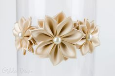 Champagne Flower Girl Headband  Stella Champagne by GoldenBeam