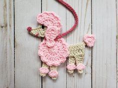 Retro Poodle Applique Pack- Crochet Pattern Only- Poodle- Poodle Skirt Applique- Retro Poodle. - Retro Poodle Applique Pack- Crochet Pattern Only- Poodle- Poodle Skirt Applique- Retro Poodle- Croc - Crochet Applique Patterns Free, Crochet Flower Patterns, Crochet Motif, Easy Crochet, Crochet Flowers, Crochet Stitches, Free Crochet, Crochet Appliques, Dress Patterns