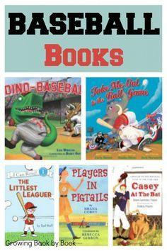 books for kids: baseball books from http://growingbookbybook.com