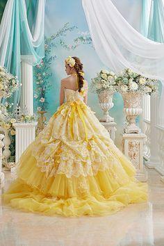 58480953dcb93 The sun dress 🌞 イエローガウン