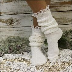 Asking whether you should suit socks to the the majority of each of your look? Look no further, we have got expert helpful hints conveniently. Knee High Socks Outfit, High Socks Outfits, Sexy Socks, Cute Socks, Slouch Socks, Frilly Socks, Yoga Socks, Girly Things, Girly Stuff