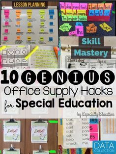 10 Genius Office Supply Hacks for Special Education Classrooms to Help Make a SPED Teacher's Day a Little Bit Easier
