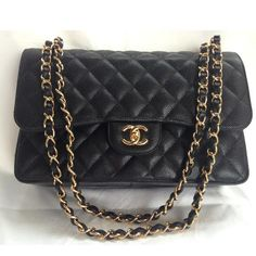 Tip: Chanel Jumbo black caviar NEW 2014 4 sale! No waiting list, 100% authentic w. receipt Chanel Amsterdam