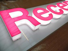 built up letters with Led's #signs #ledlighting