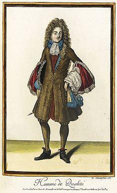 Nicolas Arnoult (France, circa 1671 - 1700)   Recueil des modes de la cour de France, 'Homme de Qualité', 1687