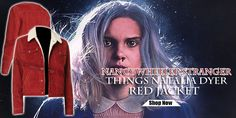 Stranger Things Natalia Dyer, Nancy Wheeler Stranger Things, Young Americans, Cotton Jacket, Piece Of Clothing, Tv Series, Red, Jackets, Beauty