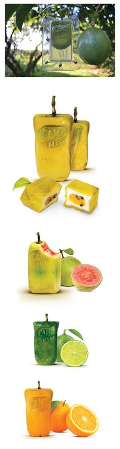 Fruits in the form of the packaging