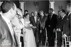 Taitlands Wedding photography bride walks up aisle  Tux & Tales Photography of York