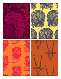 proudly south african fabric designs South African Design, South African Art, Textile Design, Fabric Design, African Interior, African Fabric, Printing On Fabric, Screen Printing, Print Patterns