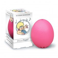 Drop this egg in boiling water along with your real chicken egg and depending on how cooked you want your egg this pink huevo will play 3 different disco tracks corresponding to doneness. Disco!