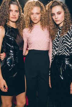The Supermodel Side-Sweep Is Back - Breakout the mousse. Backstage at…